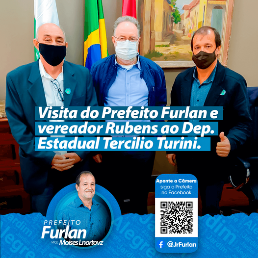 Prefeito de Jardim Alegre e Vereador Rubens visita Dep. Estadual Tercilio Turini em Curitiba