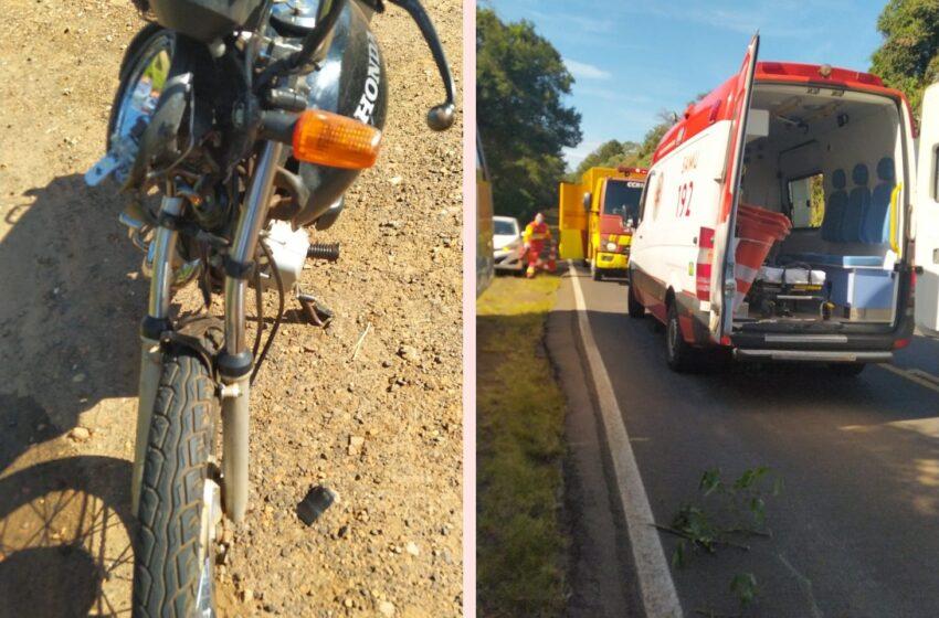Acidente resulta em adolescente ferido com moto entre Faxinal e Mauá da Serra