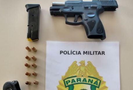 Em Manoel Ribas, PM apreende jovem com arma de fogo