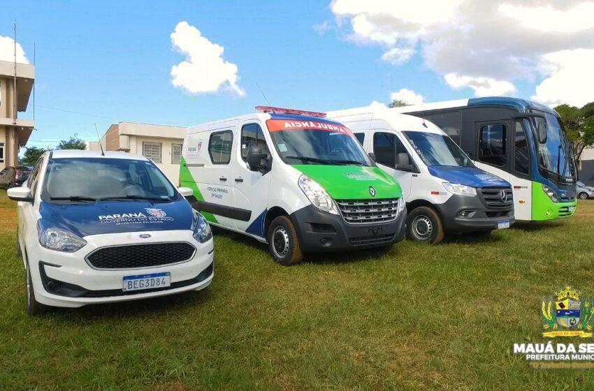 Mauá da Serra adquiri quatro novos veículos para a Secretaria Municipal de Saúde