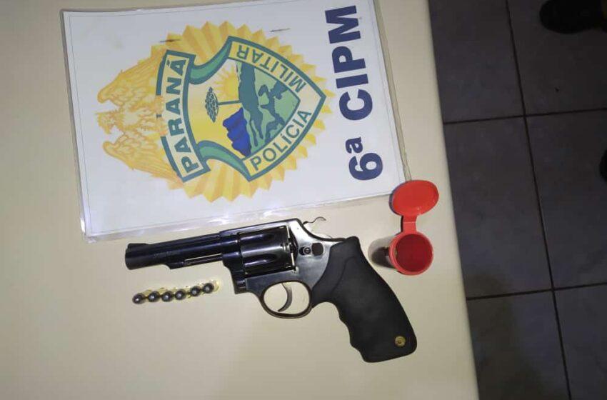 São João do Ivaí: Jovem é preso com arma roubada