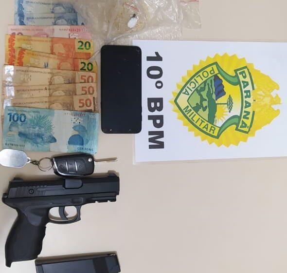 Jovem é preso suspeito de tráfico de drogas em Marumbi