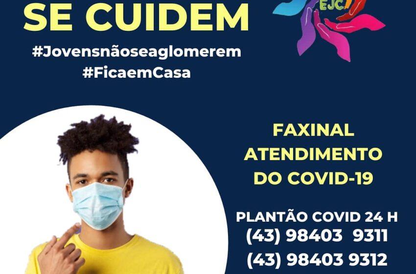 Jovens do EJC lançam campanha contra o Covid-19 em Faxinal
