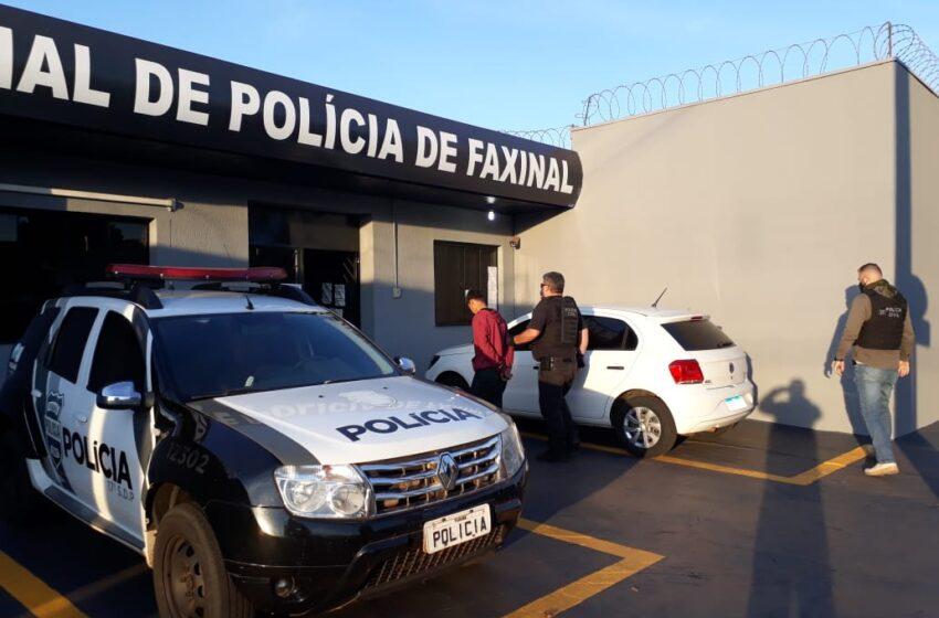 Jovem é preso pela Polícia Civil de Faxinal suspeito de envolvimento em furtos