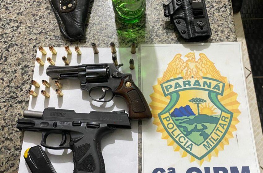 Em Lunardelli homem foi preso por porte ilegal de arma e munições