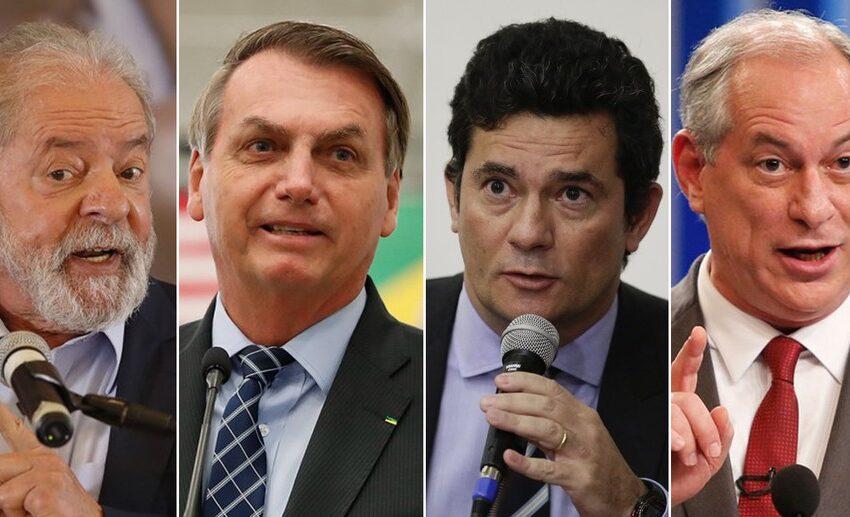 Lula tem 41%; Bolsonaro, 23%; Moro, 7%; e Ciro, 6% no 1º turno, aponta pesquisa Datafolha para a eleição de 2022