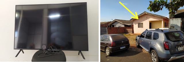 Mulher é detida em Marialva com TV furtada em Faxinal