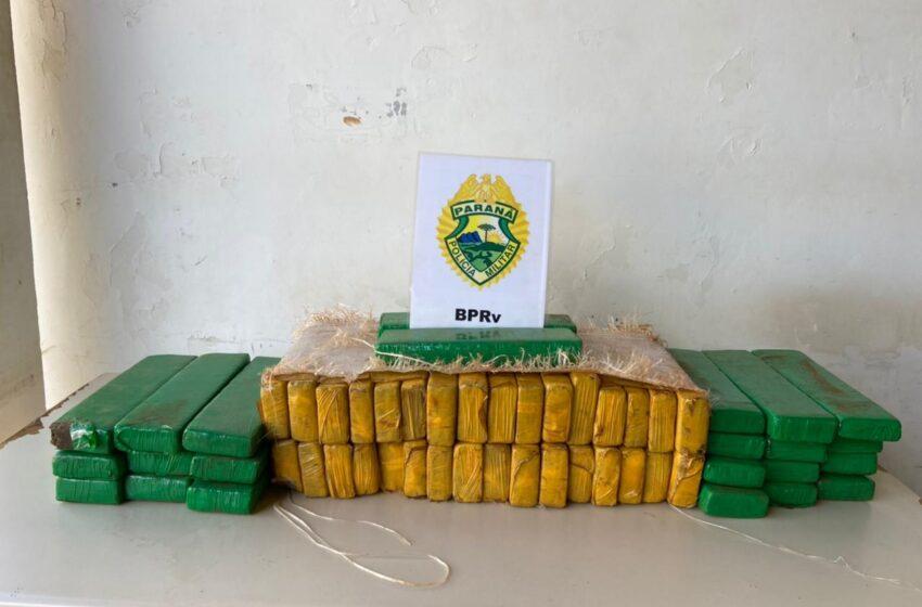 Trio com mais de 50 quilos de maconha é encaminhado pelo BPRv em Nova Tebas