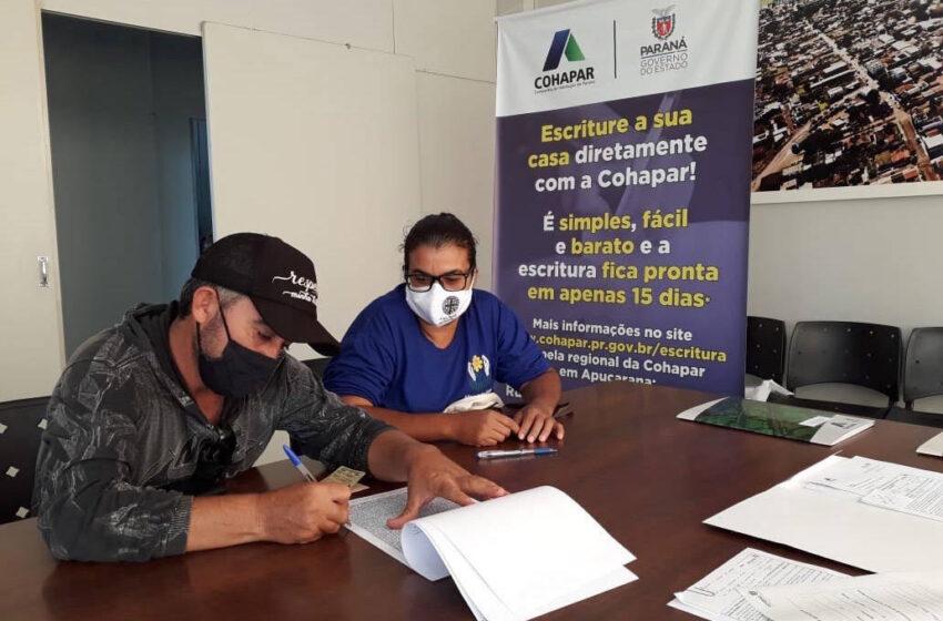 Cohapar retoma escrituração de imóveis em Apucarana