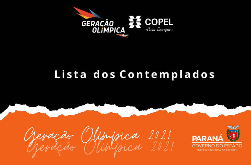Geração Olímpica divulga lista dos contemplados na edição 2021