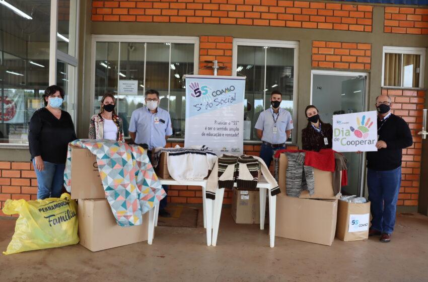 Colaboradores da Coamo doam roupas e produtos de limpeza à Assistência Social e Lar Santo Antônio de Ivaiporã