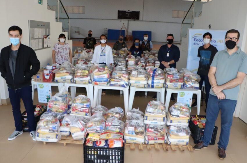 Sesc de Ivaiporã doa mais 800kg de alimentos ao Departamento Municipal de Assistência Social