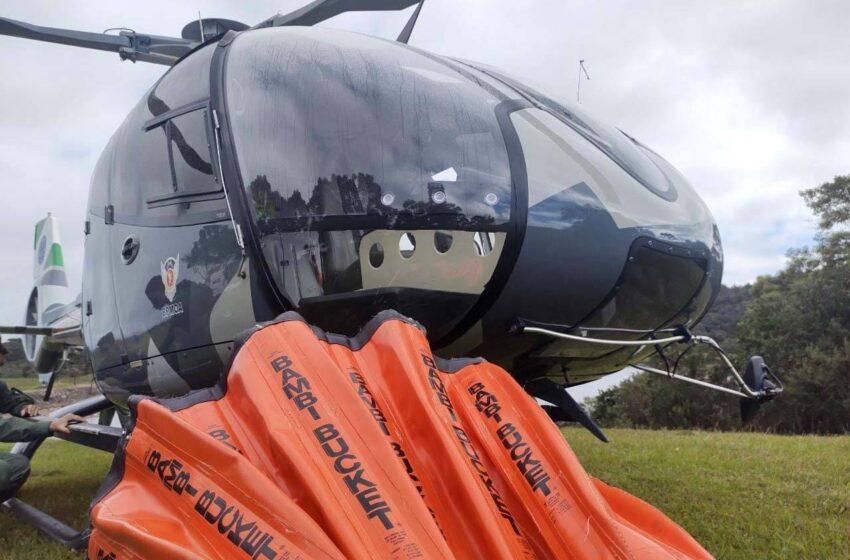 BPMOA intensifica treinamento de pilotos para combate aéreo a incêndios florestais