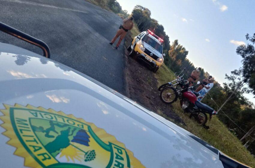 PM recuperou moto furtada em Marumbi e Jandaia; Houve prisões