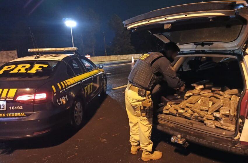 Após perseguição, polícia prende homem com 145 kg de maconha no Paraná