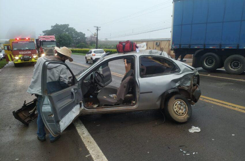Acidente envolveu cinco veículos entre Apucarana e Califórnia