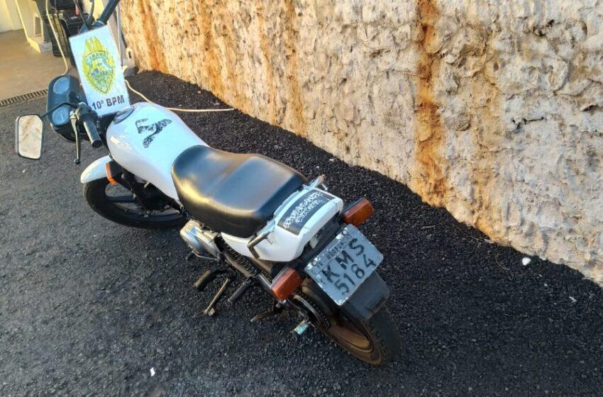 Marumbi: Equipe do Cabo Vechi recuperou motocicleta furtada em Arapongas