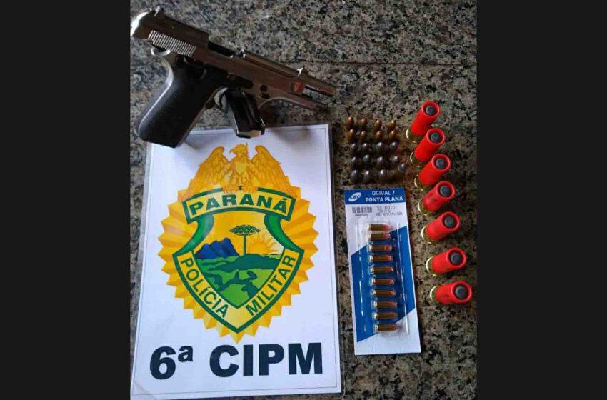 Polícia apreende arma e munições em Ivaiporã; um homem foi preso