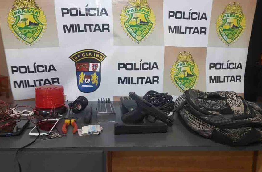 Em Cruzmaltina PM prende suspeitos e frustra roubo a caminhão