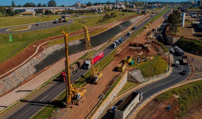 CCR RodoNorte libera nova marginal em obras da BR 376 em Ponta Grossa