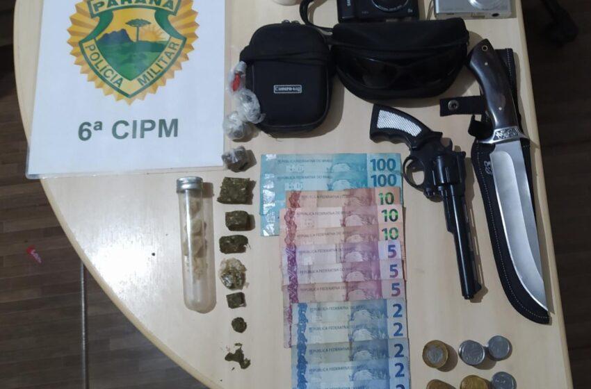 Após denúncias, PM prende suspeito de tráfico de drogas, em Ivaiporã