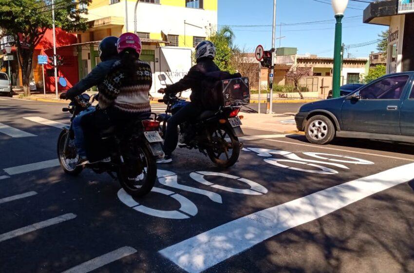 Apucarana implanta área exclusiva para motos nos semáforos