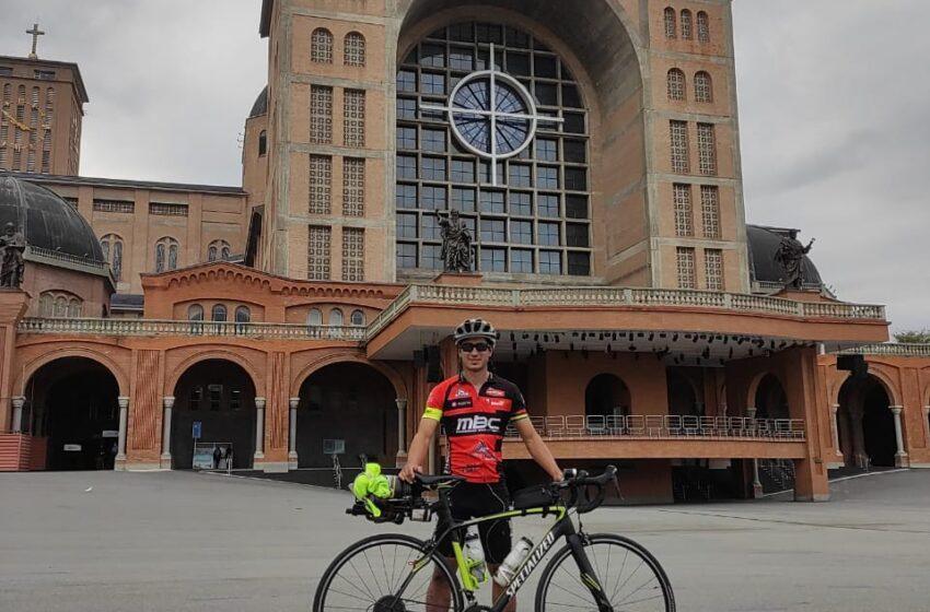 Atleta de São Pedro do Ivaí percorre 900 km de bicicleta até o Santuário de Aparecida