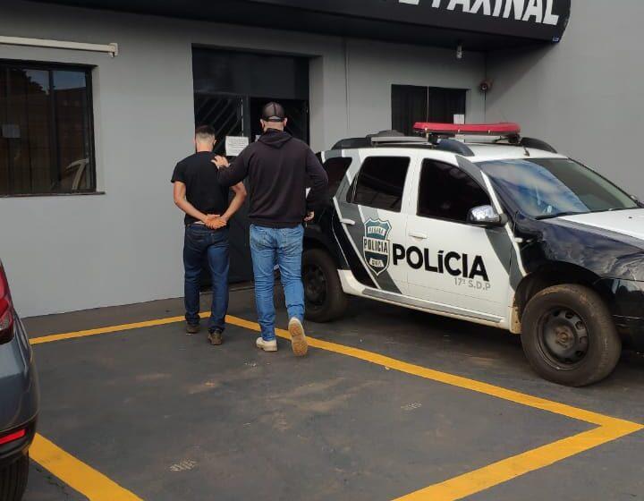 PC cumpre mandado de prisão contra suspeito de tráfico de drogas, em Faxinal