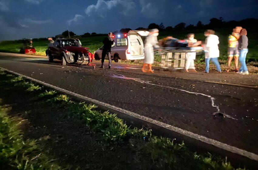 Acidente na Rodovia Domingos Massa, envolvendo veículos de Borrazópolis e Faxinal