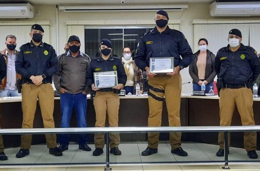 Policiais militares recebem homenagem da Câmara Municipal de Jardim Alegre