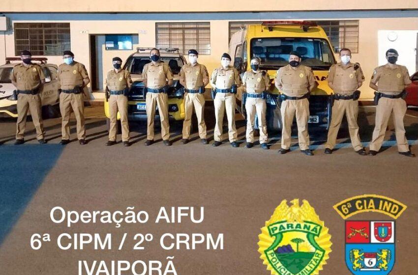 """Polícia intensifica """"Operação Lockdown"""" em municípios do vale do ivaí"""