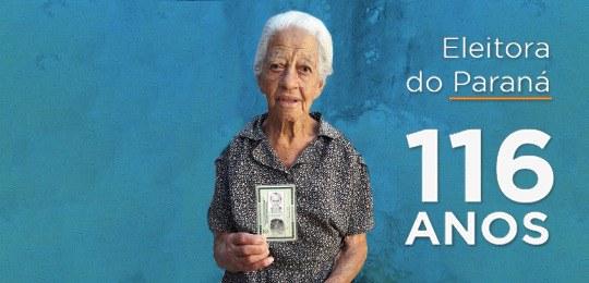 Eleitora de 116 anos tira o primeiro título em Londrina