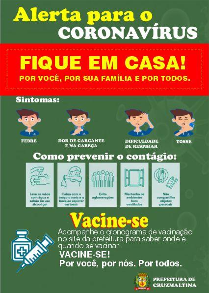 CRUZMALTINA - Alerta para o Coronavírus