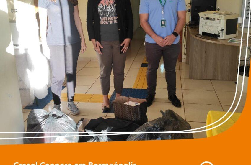 Cresol realiza doação de alimentos para o CRAS de Borrazópolis