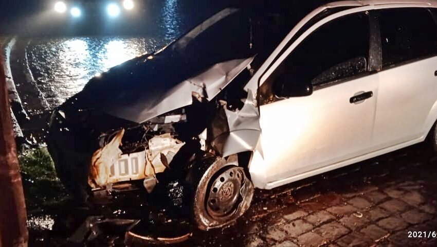 Acidente envolveu veículo de Rio Branco do Ivaí em Manoel Ribas