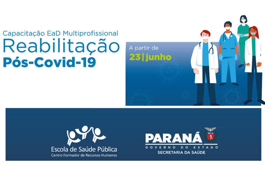 Reabilitação de pacientes pós Covid-19 será tema de capacitação da Saúde