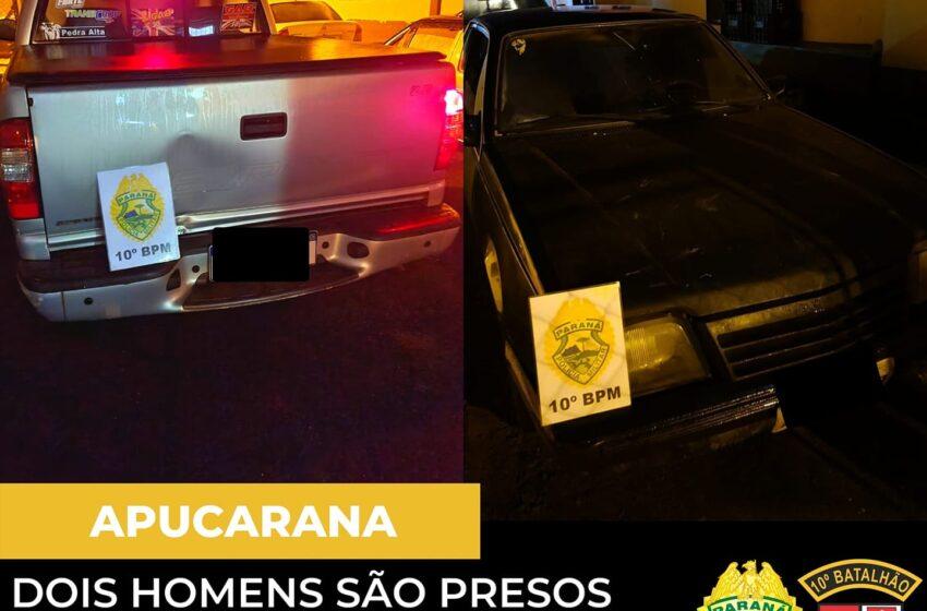 Dois homens são presos por embriaguez em Apucarana, veículos são apreendidos