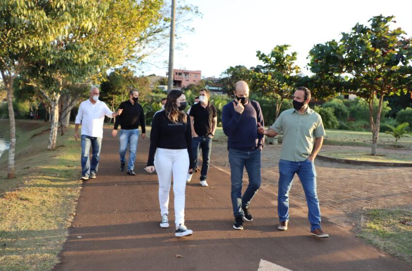 Ciclistas de Ivaiporã apresentam projeto de pista pump track à Prefeitura de Ivaiporã