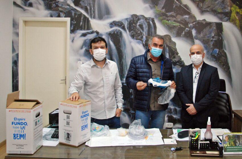 Faxinal recebe máscaras de ventilação não invasiva do Sicredi