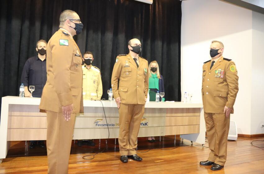 Prefeito interino de Ivaiporã participa da posse do comandante do Corpo de Bombeiros