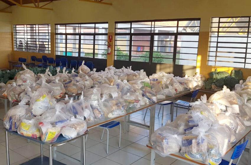Escolas estaduais da região fazem a sétima entrega de alimentos do ano