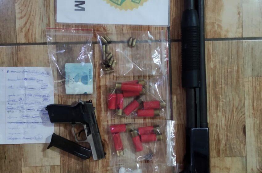 Em duas ocorrências, PM apreende quatro armas de fogo em Reserva e Imbaú, nos Campos Gerais