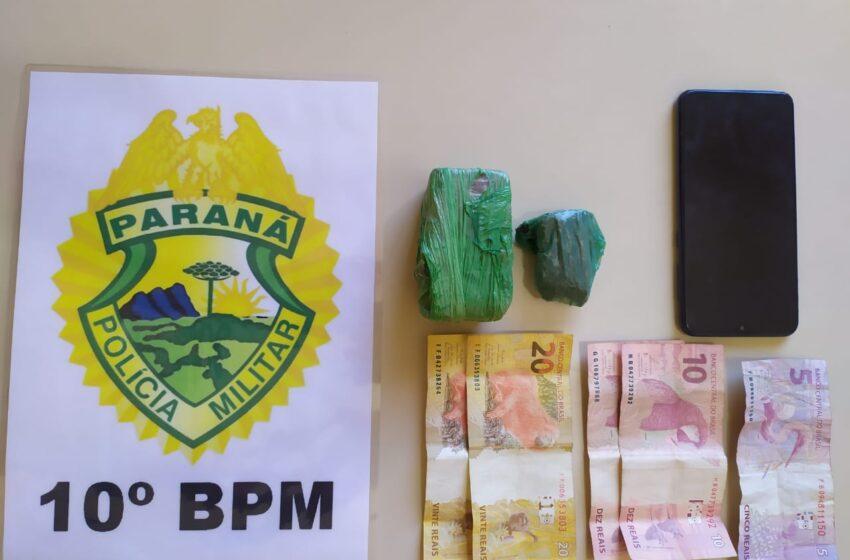 Rapaz acusado de tráfico é preso em Kaloré com 112 gramas de maconha