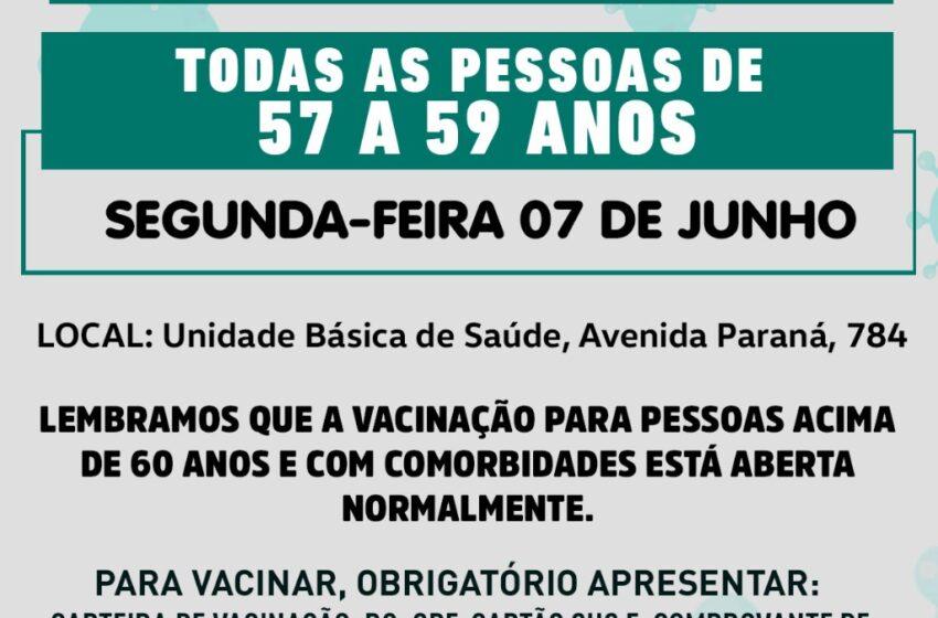 Rio Bom estende vacinação a pessoas entre 57 a 59 anos, a partir desta segunda-feira, 07