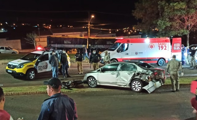 Três pessoas ficaram feridas após acidente no fim de semana em Ivaiporã