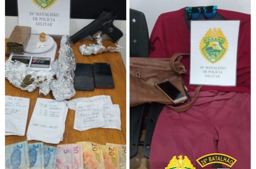 PM apreendeu drogas e objetos em Cândido de Abreu