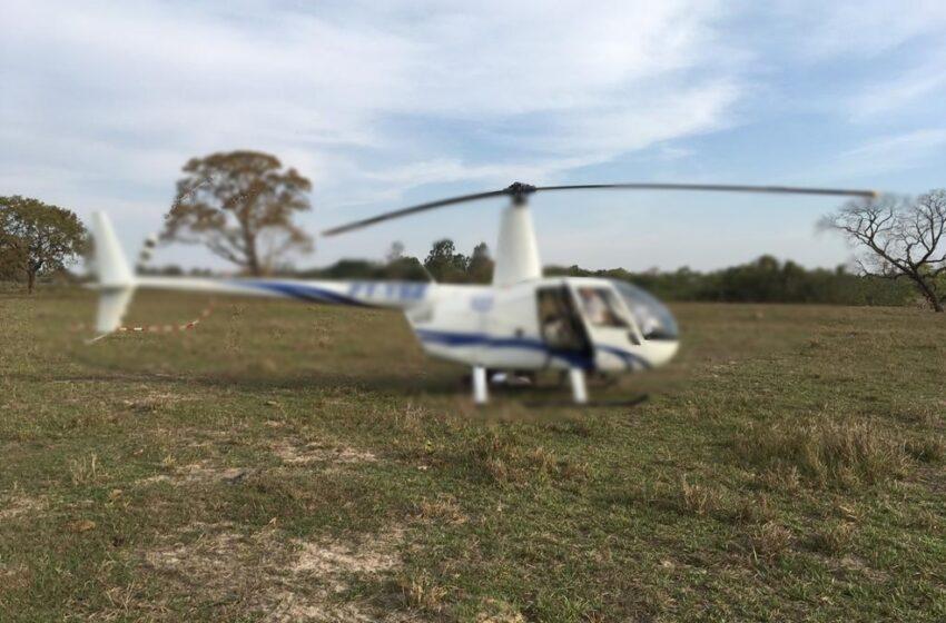 Helicóptero faz pouso forçado na zona rural de Rio Bom e teve objetos furtados