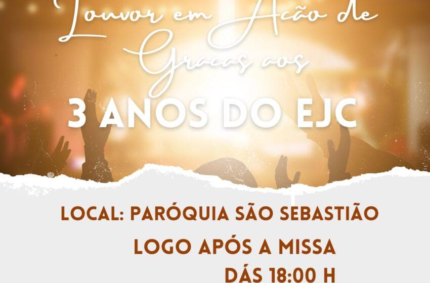 Grupo EJC comemora 3 anos na paróquia São Sebastião