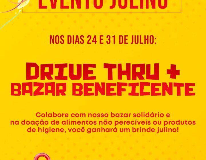 Drive Thru Solidário e Bazar beneficente dias 24 e 31 em Faxinal