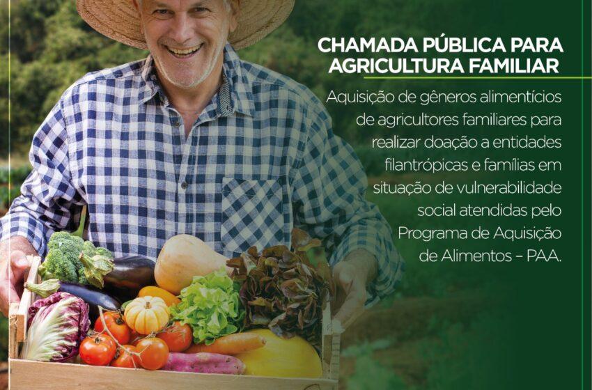 Chamada pública para agricultura familiar em Jandaia do Sul